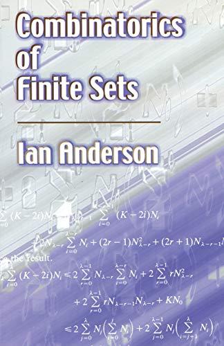 9780486422572: Combinatorics of Finite Sets