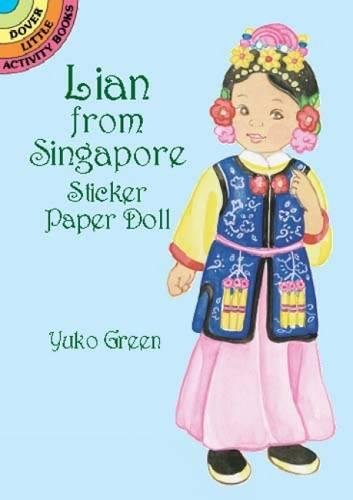 Lian from Singapore Sticker Paper Doll (Dover: Green, Yuko