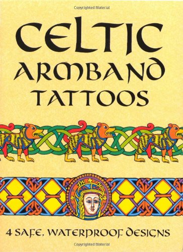 CELTIC ARMBAND TATTOOS (4 full-color temporary tattoos): Noble, Marty