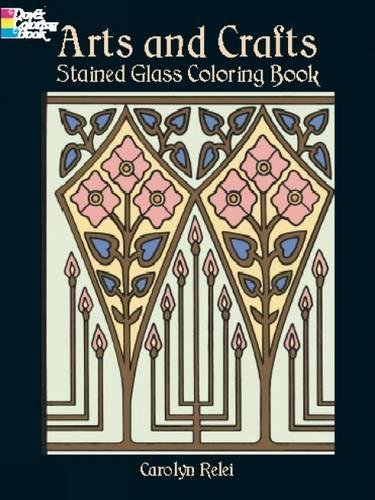 9780486423876: Arts and Crafts Stained Glass Coloring Book