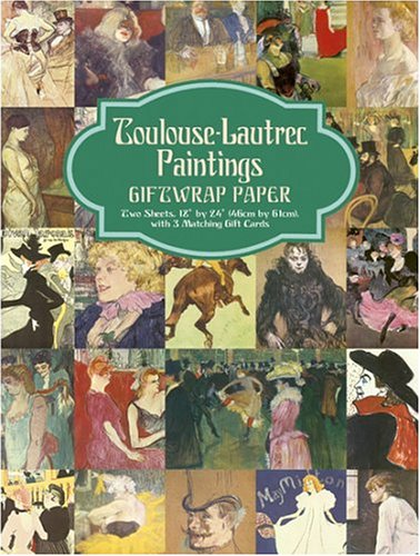 9780486424125: Toulouse-Lautrec Paintings Giftwrap Paper: Two Sheets 18
