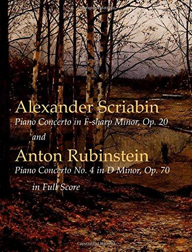 9780486424385: Piano Concerto in F-Sharp Minor, Op. 20/Piano Concerto No. 4 in d Monor, Op. 70 in Full Score