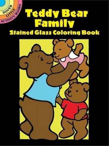 9780486426174: Teddy Bear Family Stained Glass Coloring Book (Dover Stained Glass Coloring Book)