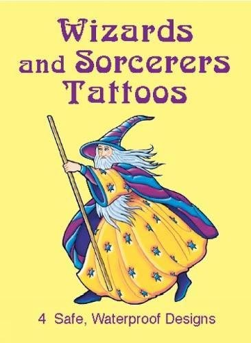 WIZARDS AND SORCERERS TATTOOS (4 different designs)