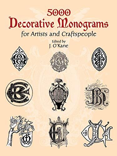 9780486429793: 5000 Decorative Monograms for Artists and Craftspeople (Dover Pictorial Archive)