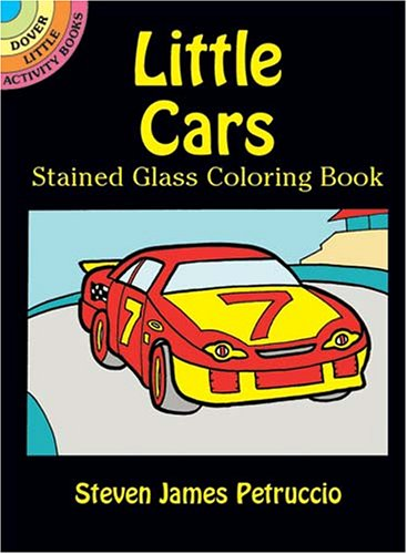 9780486430027: Little Cars Stained Glass Coloring Book (Dover Little Activity Books)
