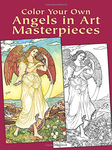 9780486430386: Color Your Own Angels in Art Masterpieces (Dover Art Coloring Book)