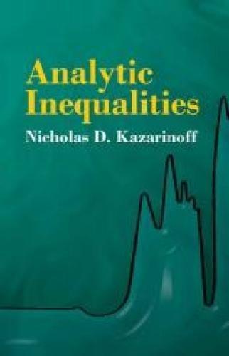 9780486432441: Analytic Inequalities (Dover Books on Mathematics)