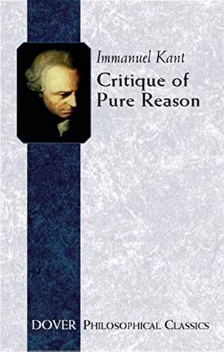 9780486432540: Critique of Pure Reason (Dover Philosophical Classics)