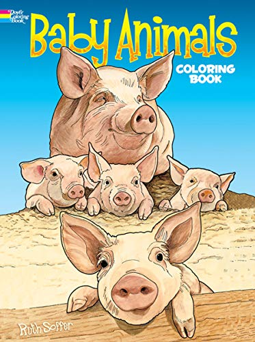 Baby Animals Coloring Book Dover
