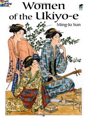 9780486433325: Women of the Ukiyo-e (Dover Fashion Coloring Book)