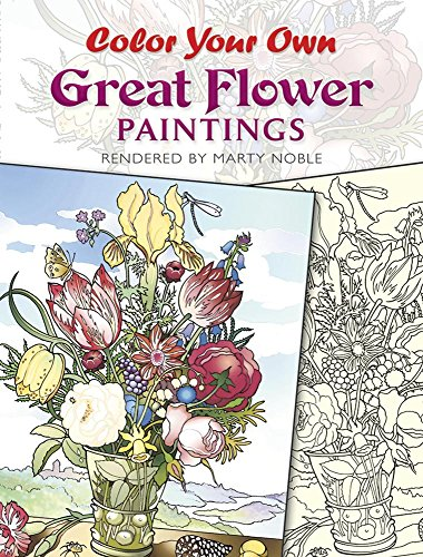 9780486433356: Color Your Own Great Flower Paintings (Dover Art Coloring Book)