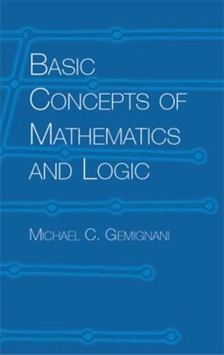 9780486435060: Basic Concepts of Mathematics and Logic (Dover Books on Mathematics)