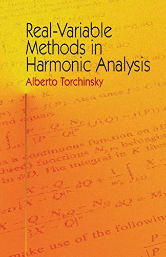 9780486435084: Real-Variable Methods in Harmonic Analysis (Dover Books on Mathematics)