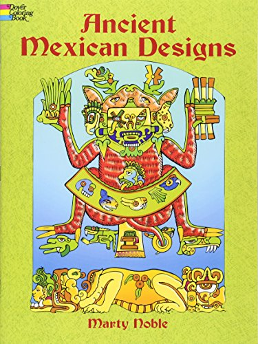 9780486436333: Ancient Mexican Designs Colouring Book (Dover ...