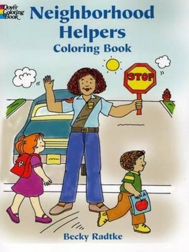 9780486436883: Neighborhood Helpers Coloring Book (Dover Coloring Books)
