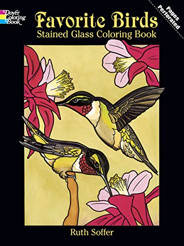 9780486436906: Favorite Birds Stained Glass Coloring Book (Dover Nature Stained Glass Coloring Book)
