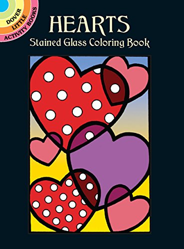 9780486438443: Hearts Stained Glass Coloring Book (Dover Stained Glass Coloring Book)