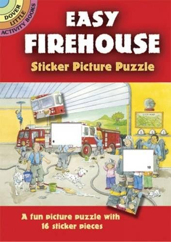 9780486438504: Easy Firehouse Sticker Picture Puzzle (Dover Little Activity Books)