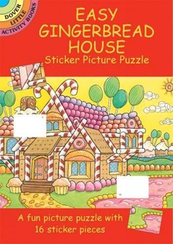9780486438955: Easy Gingerbread House Sticker Picture Puzzle (Dover Little Activity Books)