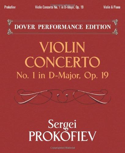 9780486439228: Violin Concerto No. 1 in D-Major, Op. 19: Dover Performance Edition