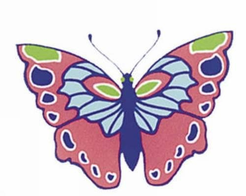 Shiny Butterfly Stickers (Paperback): Marty Noble
