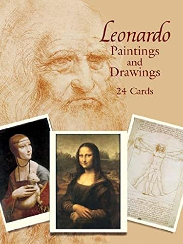 9780486439563: Leonardo Paintings and Drawings: 24 Cards (Dover Postcards)