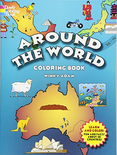 9780486439839: Around the World Coloring Book (Dover History Coloring Book)