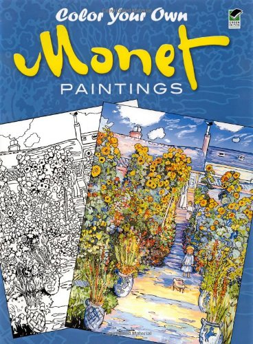 9780486439945: Color Your Own Monet Paintings (Dover Art Coloring Book)