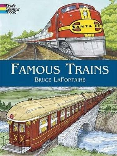 9780486440095: Famous Trains (Dover History Coloring Book)