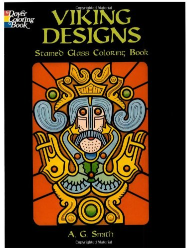 9780486440705: Viking Designs Stained Glass Coloring Book