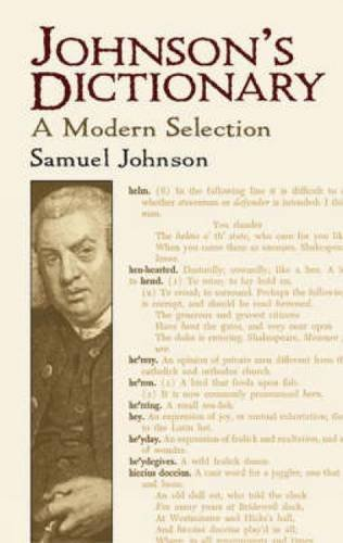 9780486440897: Johnson's Dictionary: A Modern Selection (Dover Books on Literature & Drama)