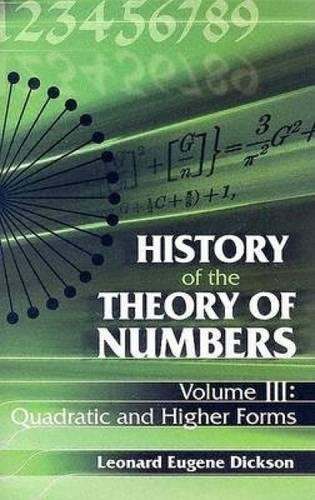 3: History of the Theory of Numbers,: Leonard Eugene Dickson