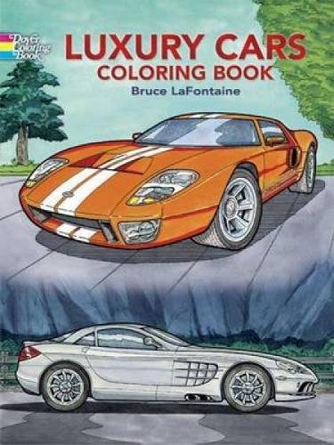 9780486444369: Luxury Cars Coloring Book (Dover History Coloring Book)