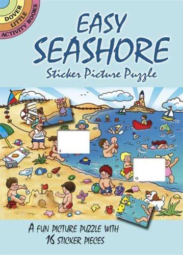 Easy Seashore Sticker Picture Puzzle (Dover Little Activity Books): Robbie Stillerman
