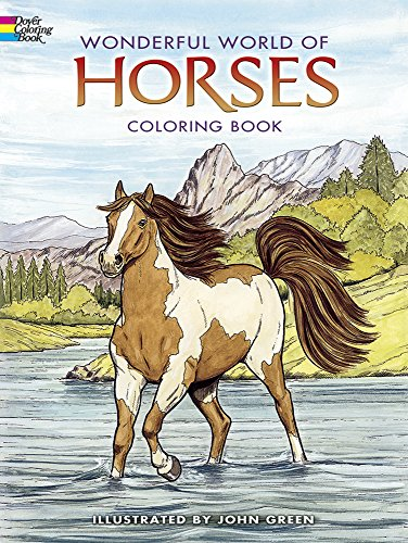 9780486444659: Wonderful World of Horses Coloring Book (Dover Nature Coloring Book)