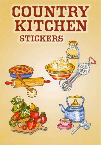 Country Kitchen Cooking Utensils Sticker Set - 22 Stickers: Joan O'Brien
