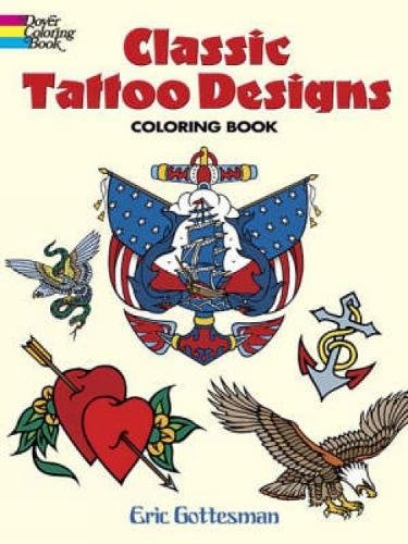 9780486447599: Classic Tattoo Designs Coloring Book (Dover Design ...