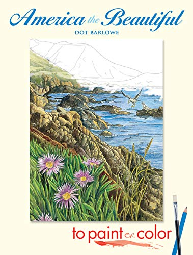 9780486448114: America the Beautiful to Paint or Color (Dover Art Coloring Book)