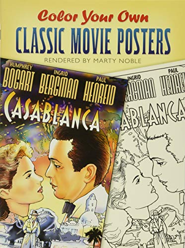 9780486448121: Color Your Own Classic Movie Posters (Dover Art Coloring Book)