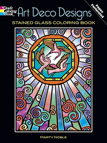 9780486448145: Art Deco Designs Stained Glass Coloring Book (Dover Design Stained Glass Coloring Book)