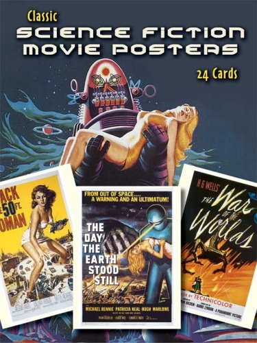 9780486449180: Classic Science Fiction Movie Posters: 24 Cards (Dover Postcards)