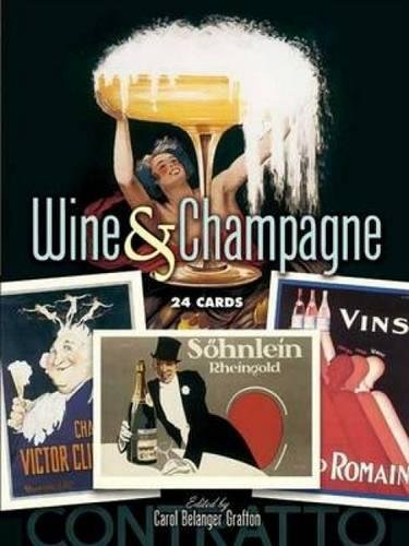 9780486449357: Wine & Champagne: 24 Cards (Dover Postcards)