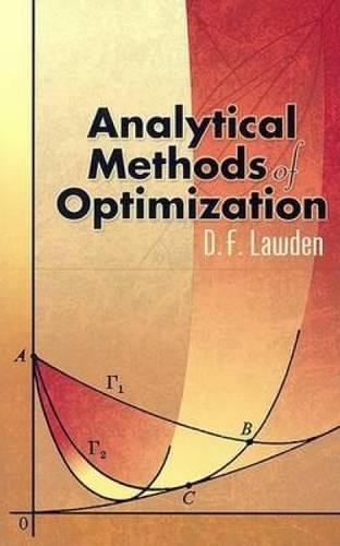 9780486450346: Analytical Methods of Optimization (Dover Books on Mathematics)