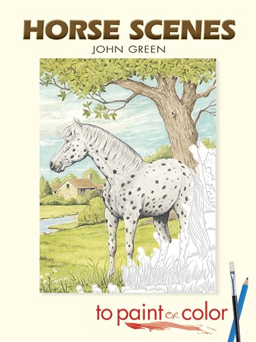 9780486452098: Horse Scenes to Paint or Color (Dover Art Coloring Book)