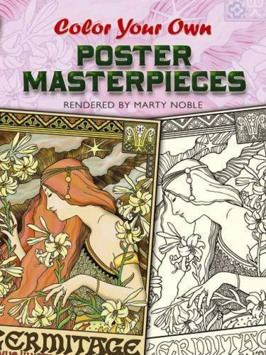 9780486456805: Color Your Own Poster Masterpieces (Dover Art Coloring Book)