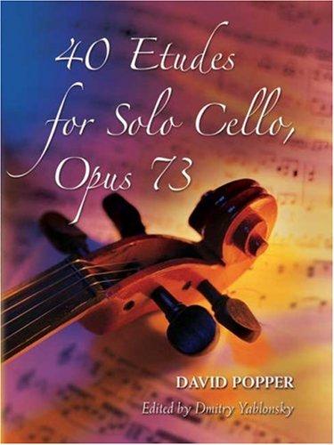 9780486457369: David Popper 40 Etudes For Solo Cello Op.73 Vlc