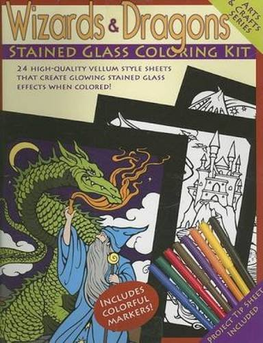 9780486460697: Wizards and Dragons Stained Glass Coloring Kit (Arts & Crafts (Dover))