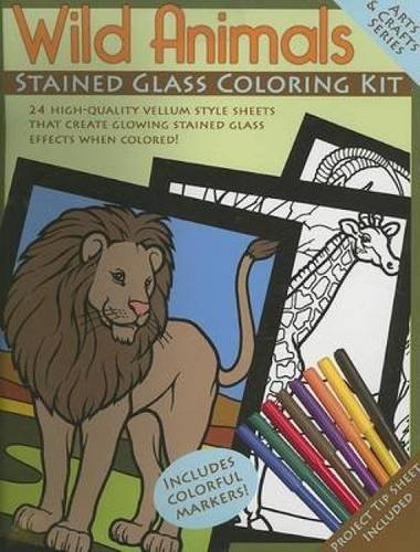 9780486460734: Wild Animals Stained Glass Coloring Kit (Arts & Crafts (Dover))