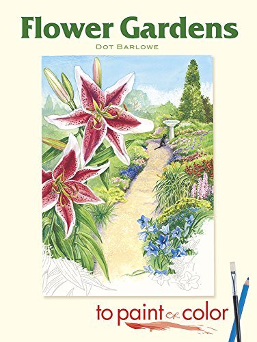 9780486462042: Flower Gardens to Paint or Color